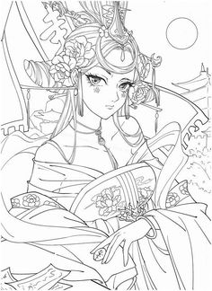 Coloring Book Art, Coloring Pages For Girls, Cute Coloring Pages, Dark Art Drawings, Art Drawings Sketches Simple, Black And White Doodle, Art Poses, Color Pencil Art, Anime Art Girl