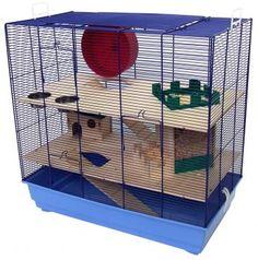 Das komplett ausgestattete Mäuse- und Hamsterheim Texas mit Buddelburg bietet jede Menge, damit sich Ihre kleinen Tiere wohlfühlen. Dieser Käfig ist ideal geeignet für kleine Nager wie z.B. Mäuse, Zwerghamster und Gerbils.