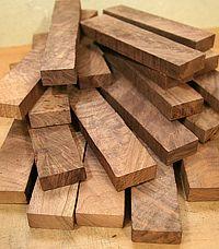 Figured Black Walnut Wood Lumber boards for woodworking, Juglans nigra