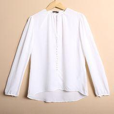 New Arrival Euro ZA Brand Fashion Women Round Collar Black and White shirt sexy long sleeve button brand designer shirt blouse
