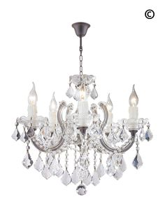 Maria Theresa 5 Light Crystal Chandelier - RUSTIC - Designer Chandelier Australia Pty Ltd