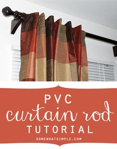 pvc curtain rod tutorial - curtain rod for cheap!!