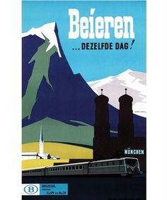 Reisaffiche voor de Belgische Spoorwegen, Herman Verbaere