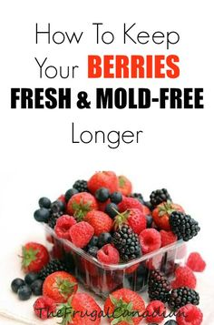 Extend Your Berries Life With This Washing Method Have you ever bought a batch of berries only for them to go moldy or yucky in a day or two? You end up throwing them away soon after they are purch…