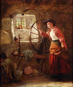 John Templeton Lucas (1836-1880), The Spinning