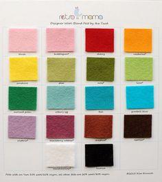 Choose 2 Half Yards Wool Blend Felt Yardage by retromama on Etsy, $10.00
