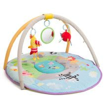 Encourage your little adventurer to play independently as they practice tummy time or learn to sit with Taf Toys' Jungle Pals Gym. Features whimsical jungle illustrations and detachable chime toys for babies to bat and reach. Baby Play Mat Gym, Play Gym, Kids Table And Chairs, Chairs For Sale, Mat Best, Best Baby Car Seats, Baby Items For Sale, Best Double Stroller, Thing 1