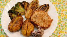 Varkenstournedos met broccoli, witloof en aardappel in de schil met sjalottenboter | VTM Koken