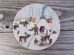 Arabia Finland Design Wall Plate A Village by PivisFinnishVintage