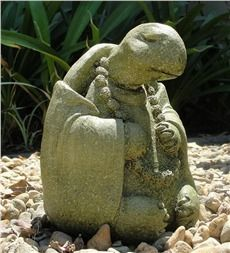Large Meditating Turtle Garden Stone Sculpture