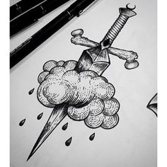 dotwork dagger - Buscar con Google                                                                                                                                                                                 More