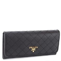 Prada Quilted Saffiano Long Continental Wallet