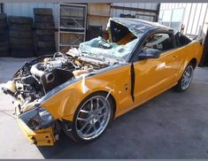 Roush Mustang, Crying Shame, Worst Day, Mustangs, My Ride, Car Insurance, Ford Trucks, Old Cars, Yellow