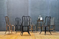 Toledo Steel Soda Fountain Cafe Chairs : 20th Century Vintage Industrial from Modern 50.