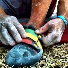 climbing shoes. chalk. bliss.