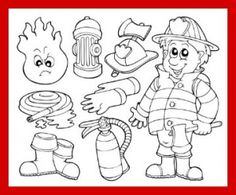 Fireman Coloring Worksheet For Fire Prevention Week Heres A