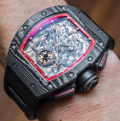"Richard Mille RM 011 Felipe Massa Black Night NTPT Carbon Watch Review - by David Bredan - on aBlogtoWatch.com ""Frankly, I unashamedly took every opportunity on every single day to wear the Richard Mille RM 011 Felipe Massa Black Night NTPT Carbon watch while reviewing it...These couple of weeks have, finally, allowed me to get a better idea about what it is like to live with a $140,000-plus Richard Mille on the wrist, and to see if it was as remarkable an experience as I anticipated...."""