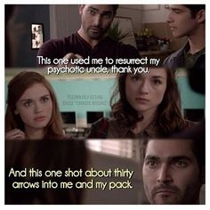 Scott: give me a reason why we can't trust them. Derek: Hell, I'll give you two.