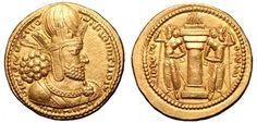 Sassanian Empire AV Dinar ND Ctesiphon Mint Shapur I 260-72AD