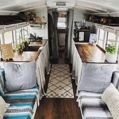 Tiny House Listings: Small houses for sale and rentOff-Grid Bus Conversion - Cabin on Wheels - Converted Bus for Sale in Fayetteville, Arkansas - Tiny House ListingsSkoolie Bus Living, Tiny House Living, Renta Casa, Bus Remodel, School Bus Tiny House, Bus Interior, Trailer Interior, Interior Design, Kombi Home