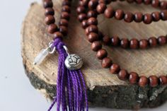 Wooden Bead Necklace - Zodiac Sign Jewelry, Mala B… Wooden Bead Necklaces, Wood Necklace, Wooden Beads, Tassel Necklace, Stone Wrapping, Sentimental Gifts, Handmade Jewelry, Etsy Jewelry, Zodiac Signs