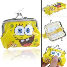 Adorable SpongeBob Buckle Design Mini Coin Bag Purse Wallet - Color Assorted NBG-70066