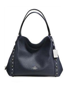 Coach Edie Shoulder Bag 31 in Floral Rivets Leather Handbags On Sale, Luxury Handbags, Coach Handbags, Coach Purses, Purses And Handbags, Coach Bags, Leather Handbags, Leather Bag, Leather Purses