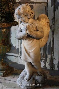 #19232 White Stone Angel