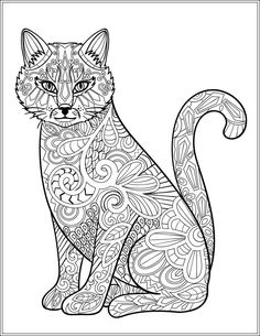 adult coloring pages cat 630 Best ✐Adult Colouring~Cats~Dogs ~Zentangles images | Mandalas  adult coloring pages cat