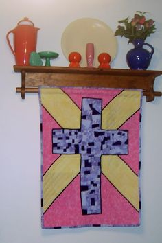 My Easter quilt.  Fiesta ware and quilts make me smile.