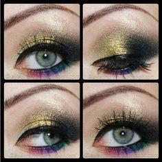 smokey eyes by Phloox using Sugarpill Goldilux eyeshadow!