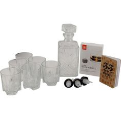 KegWorks Deluxe Whiskey Tasting Set contains decanter, 6 old-fashioned whiskey glasses, tasting notebook, bottle pourers and whisky stones. Aromatic Bitters, Whiskey Gifts, Cocktail Bitters, Whiskey Decanter, Liquor Bottles, Best Beer, Gift For Lover, Whisky, Drinking