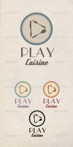 Play Cuisine Logo  #GraphicRiver         The logo for interactive cafe or restaurant or some tasty music resource  	 Vector, full editable  	 CMYK, 4 color variations  	 Font used: Parisish, Deftone Stylus You can find them here:  webneel /daily/download/2652/2/Parisian/Free-Font-Download webneel /daily/download/2652/8/Deftone%20Stylus/Free-Font-Download 	 Please rate the item if you like it!     Created: 15May13 GraphicsFilesIncluded: VectorEPS #AIIllustrator Layered: Yes…