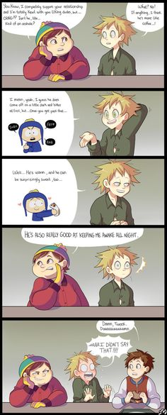 I never realized Creek was such a cute ship until it became canon two episodes ago. Thank you, South Park. 8'D South Park: © Trey Parker & Matt Stone Art: © Ishimaru-Miharu