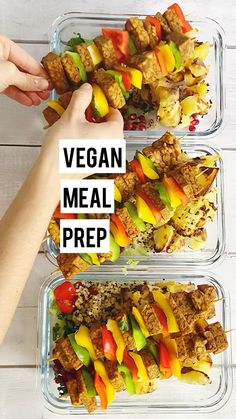 Low Calorie Vegan Meals, Quick Vegan Meals, Vegetarian Meal Prep, Vegan Meal Plans, Lunch Meal Prep, Meal Prep For Vegetarians, Meal Prep Dinner Ideas, Healthy Meals, Low Carb High Protein