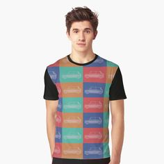 Save 20% on original gifts for original people. Use ORIGINAL20. Pop Art Cars Print All Over T-Shirt by Emily Pigou. #tshirt #sales #save #family #online #shopping #onlineshopping #redbubble #gifsforhim #giftsforhim #style #fashion #cars #popart #pop