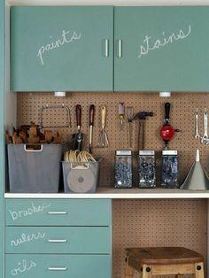 Garage-Chalkboard-Storage-Cabinet-Idea