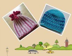 Sweet Nothings Crochet two lovely beanies for a boy n girl