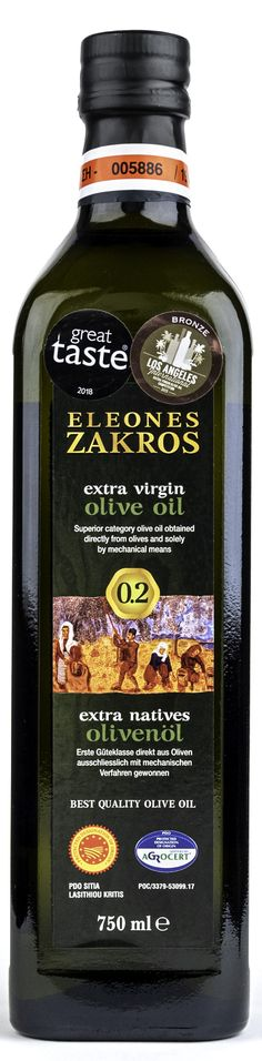 An extraordinary tasty olive oil (PDO SITIA) from the olive groves of the Minoan Palace of Zakros, with a history of 4 Millenniums. Awarded as one of the best olive oils of the world, it has an excellent taste and a mild, fruity aroma. Extra Virgin Oil, Minoan, Olive Oils, Crete, Whiskey Bottle, Palace, Tasty, Pure Products, History