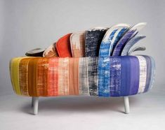 It's called the Split Personality sofa. Change the color when you like! interesting!