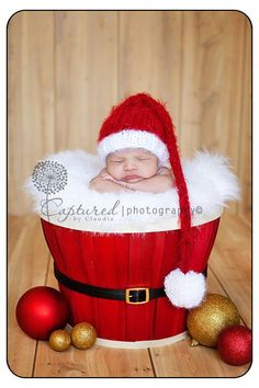 I want to do this for Christmas :) I already bought the basket, now I just need a baby Santa hat!