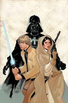 "kamisamafr: ""Star Wars - The Skywalker family by Terry Dodson """