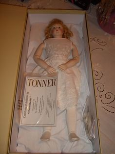 """This is a Huret doll that is a limited edition by the Tonner Doll Company.  The doll was made exclusively for the UFDC 2016 convention in Washington DC.  There were only 100 dolls made for the event.  The body was produced as a project by Dolls Parts, the Tonner Doll company, The Artisan Guild, and Sheryl Williams (a noted doll artist).  The body was made using 3 D computer technology from an original antique Huret body.  She is 14 1/2"""" tall.  The head is handpainted resin"""