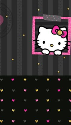 Wallpaper Hello Kitty Hitam New Wallpapers