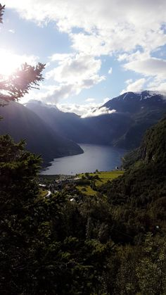 View over Geiranger seen from Utsikten Hotel My Photos, River, Mountains, Nature, Outdoor, Outdoors, Outdoor Games, Outdoor Living, The Great Outdoors
