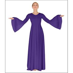Bell Sleeve Dress by On Stage : Euro-13814, On Stage Dancewear, Capezio Authorized Dealer.