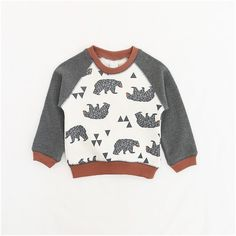 2017 New Arrival Boys Bear Long Sleeve Sweatshirt Tops Spring Autumn Children O-Neck Cotton Hoodies Baby Girl Sweatshirt Clothes //Price: $28.30 // #baby