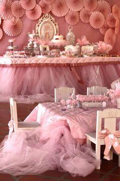 Pink Party aniversário da bailarina via Idéias do partido de Kara |. Kara'sPartyIdeas com # # Ballet PartyIdeas # Suprimentos # Girl # Pink (11)