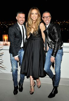 Dan and Dean Caten and Jennifer Lopez at Dsquared2's private dinner.