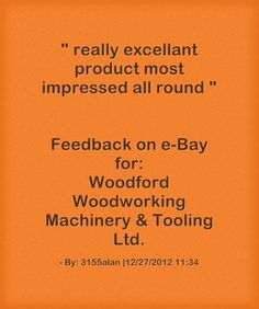 Feedback earned on eBay.  really excellant product most impressed all round.  By: 3155alan